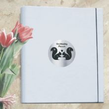 A4 Luxury Wedding Planner/Organiser Personalised with Squirrel Plaque - Ideal Engagement Gift